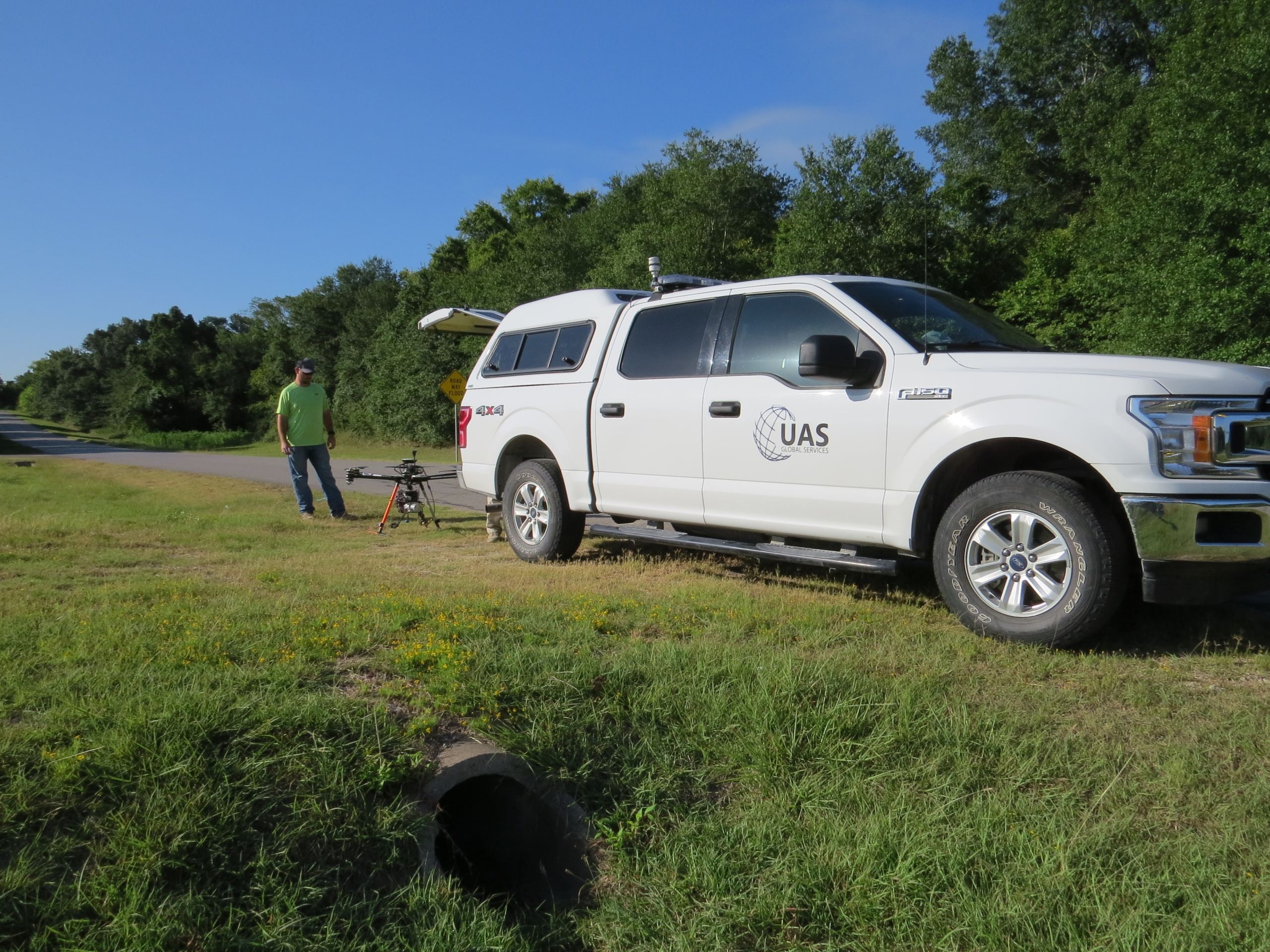 Drone LiDAR Flight Crew Survey Texas